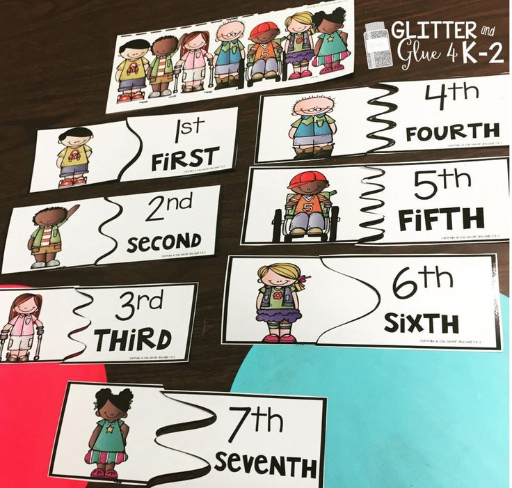 how to teach ordinal numbers to kindergarten