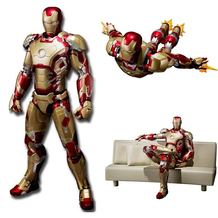 Iron Man Mark 42 with Tony's Sofa //Price: $35.00 & FREE Shipping //     #superheroez #superheroes #marvel #dccomics
