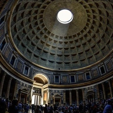 The Pantheon Rome The Circle Of Sun Light From The