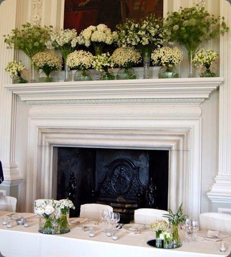 Best fireplace altar mantel floral designs images on
