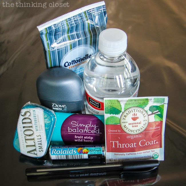 The Actor's Survival Kit: A fun idea for an opening night gift that is both thoughtful and practical!  The actors will be bound to break a leg or two.