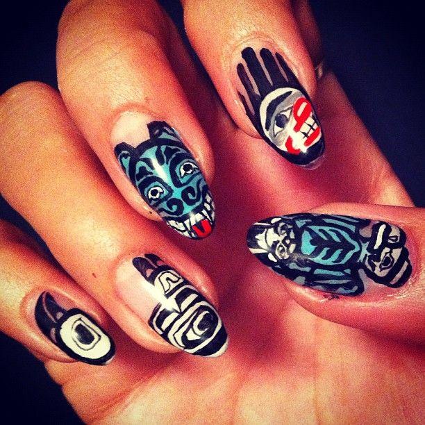 """@naominailsnyc's photo: """"Haida art #nail #nailart #Haida"""""""