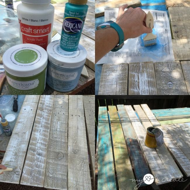 painting pallet planks