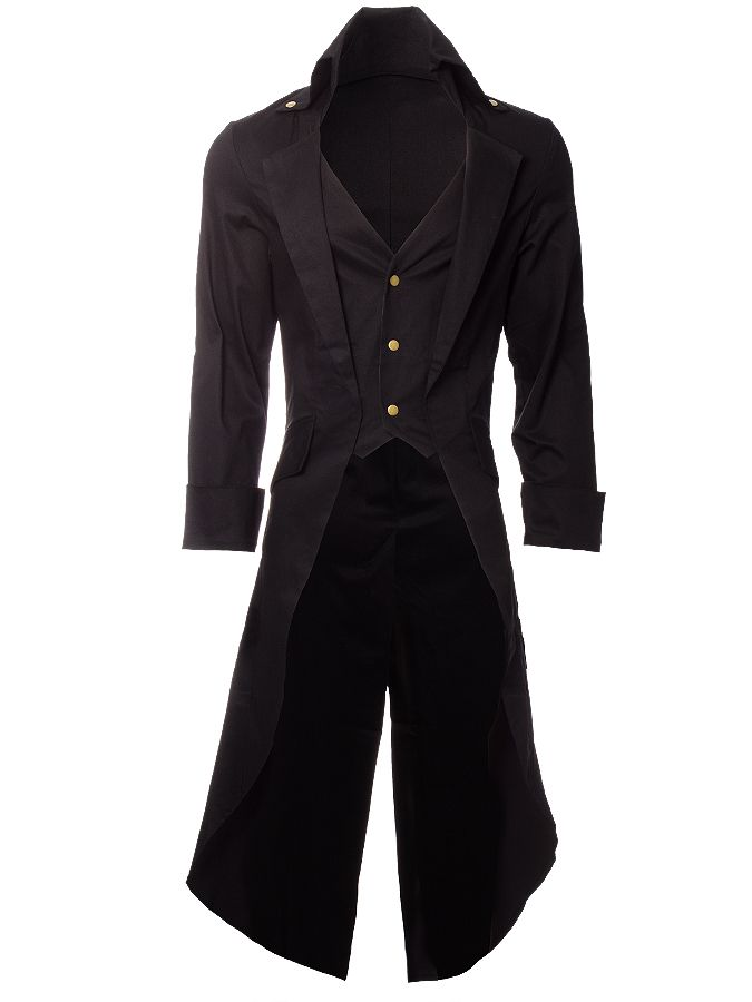 Steampunk Grim Long Coat (Black) [now that I think about it, maybe Rilo would look good in black XD)