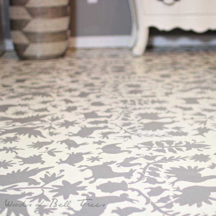 17 Best Ideas About Paint Concrete On Pinterest: 23 Best Stenciled Concrete & Wooden Floors Images On