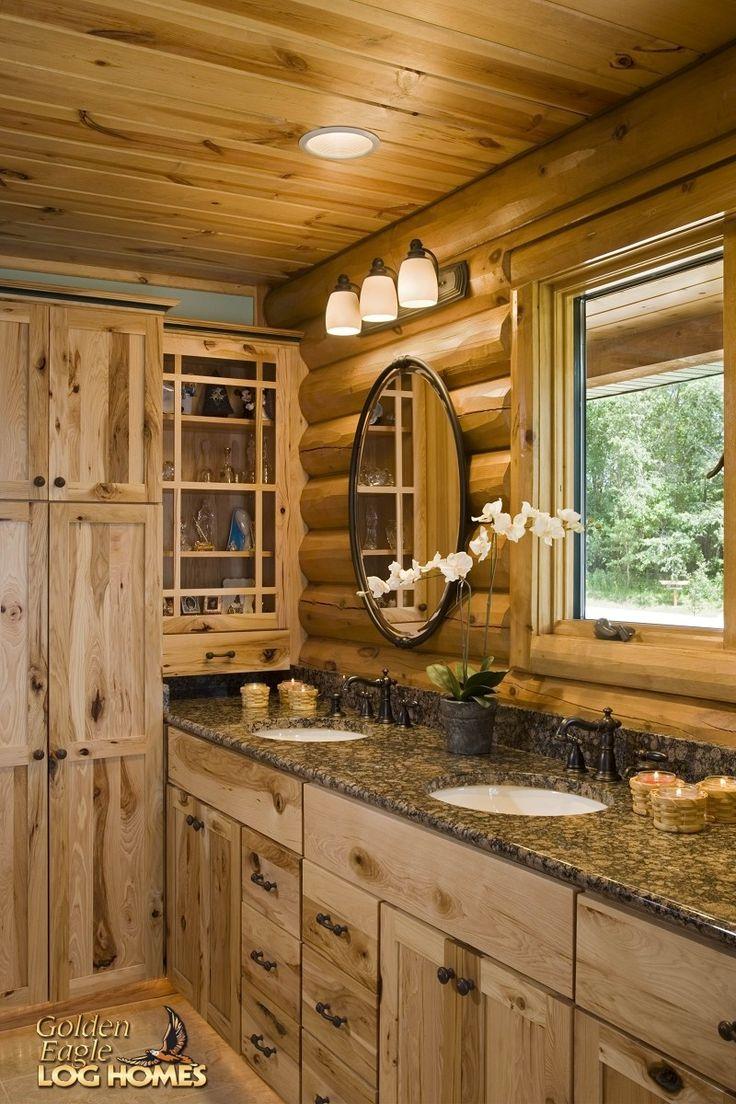 Log bathroom (Golden Eagle Log Homes) Cabin Fever