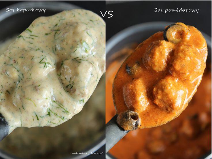 Klopsiki: sos koperkowy vs sos pomidorowy