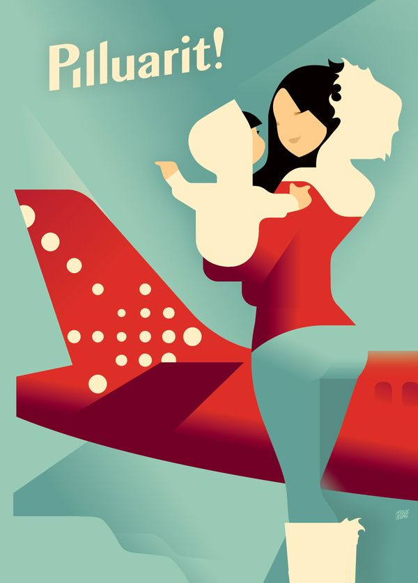 Air Greenland poster by Mads Berg, via Behance