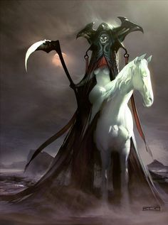 "The Fourth & Final Horseman is named Death. Known as ""The Pale Rider"" - Simon Dubuc"