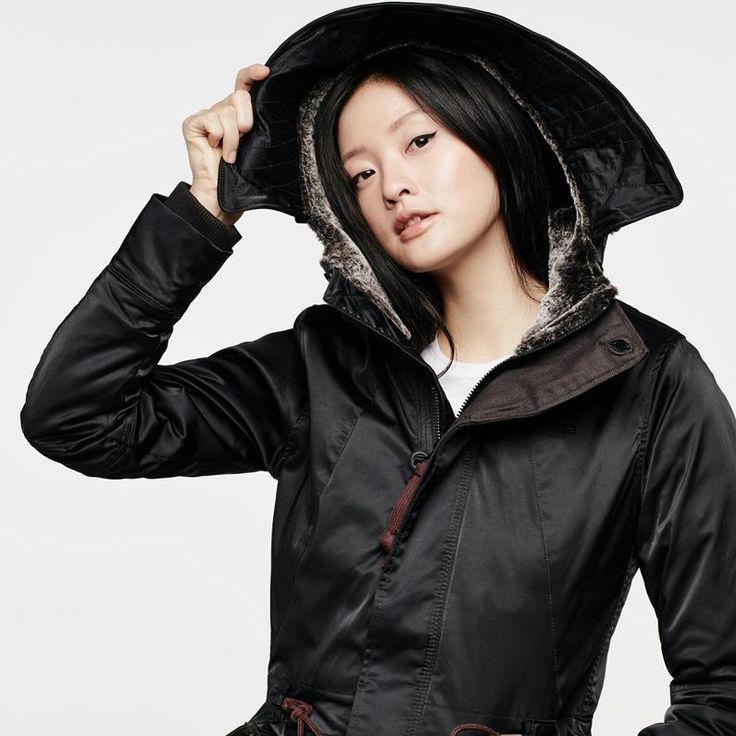G-Star RAW | Frauen | Winterjacken & Mäntel | Duty Premium Hooded Relaxed Parka , Black