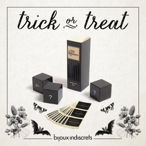 #TRICKorTREAT?  TRICK… If you think that play with an Ouija board on Halloween is for thrill-seekers, dare yourself to roll these dices! - #sexy #halloween #lovemeetspassion - http://shop.bijouxindiscrets.com/en/petits-bonbons/55-lucky-love-dice-8437008001326.html