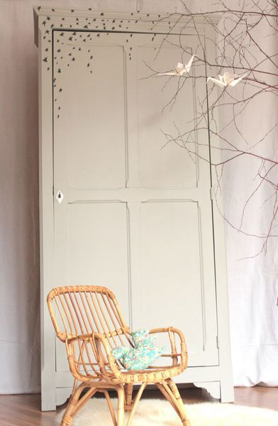 armoire parisienne vintage une porte chambre enfant Trendy Little 1