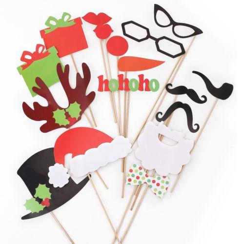 17PCS-Weihnachten-Party-Dekoration-Schnurrbart-Brille-Lippe-Photo-Booth-Props