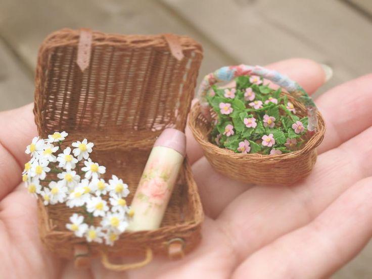 2017, Miniature Picnic basket♡ ♡ By Pansbear
