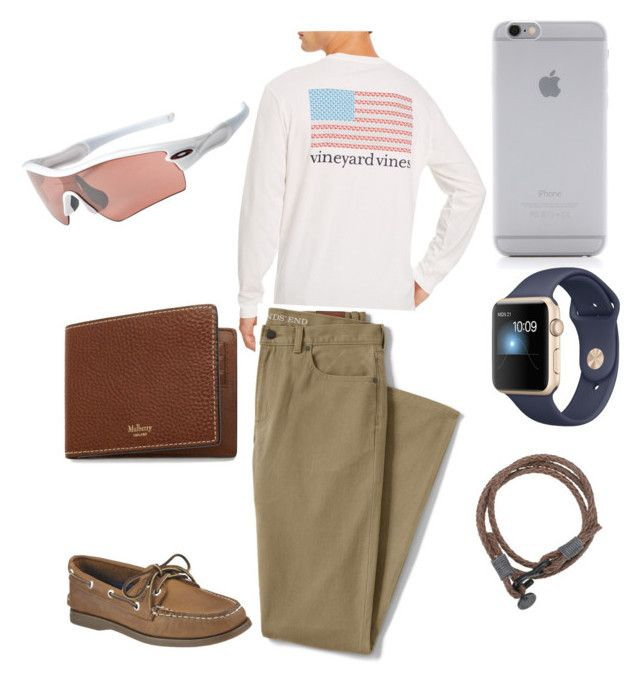 """""""Men's wear"""" by ashlyntindell on Polyvore featuring Native Union, Oakley, Vineyard Vines, Lands' End, Mulberry, Sperry, men's fashion and menswear"""