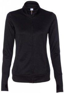Image of Yoga Clothing For You Ladies Lightweight Performance Jacket, Large Black