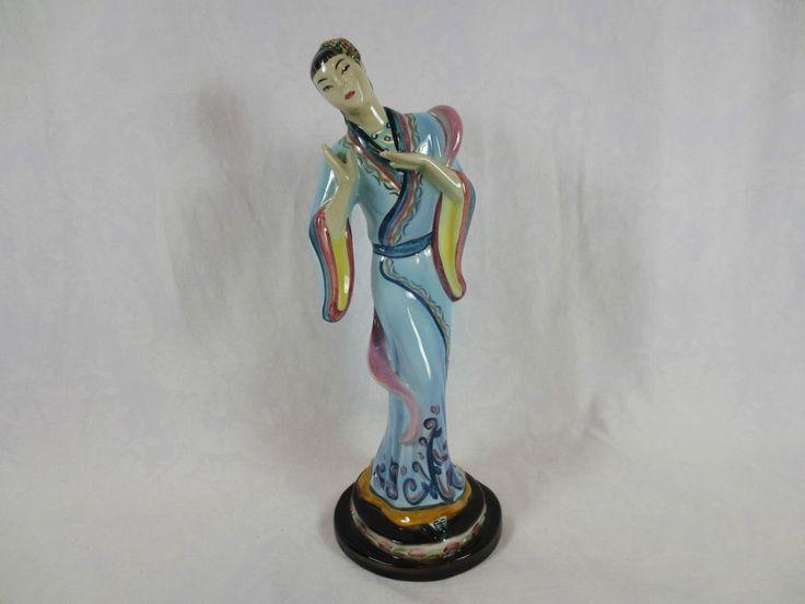 """Vintage Art Deco GOLDSCHEIDER FIGURINE USA~ Everlast 823 9 12 4 """"W"""" or """"M"""" ~11"""" #ArtDeco #Goldscheider"""