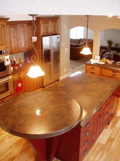 Awesome Circular Bar, Brown Granite Concrete Countertops Stone Passion Salt Lake  City, UT