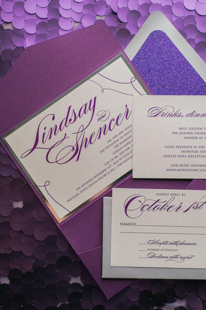 202 best Purple Wedding Trends images on Pinterest Wedding