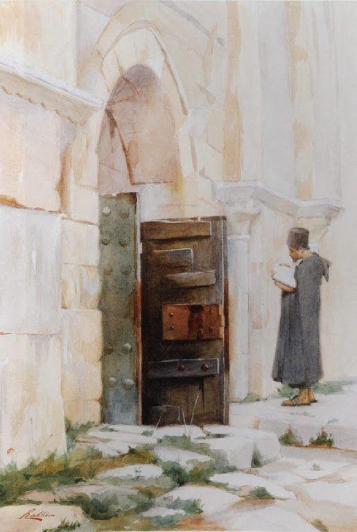 Είσοδος στον τάφο της Παναγίας στην Ιερουσαλήμ