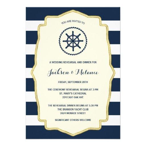 Navy Blue Stripes | Nautical Rehearsal Dinner