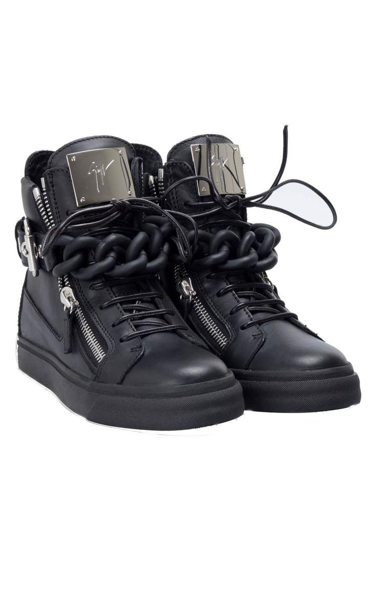 #GiuseppeZanotti chain zipped leather #sneakers, available here -> http://www.bagheeraboutique.com/en-US/designer/giuseppe_zanotti
