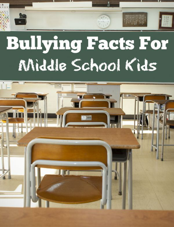 Bullying Facts For Middle School Kids | Kid, Middle school ...
