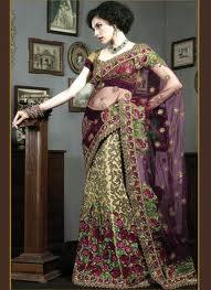 Women always prefer to wear saris in different styles.