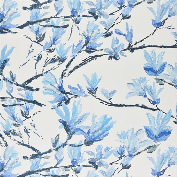 shangri-la - cobalt fabric | Designers Guild