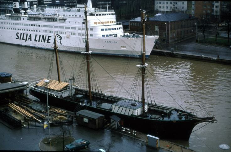 The 1970s. Silja Line in Aurajoki