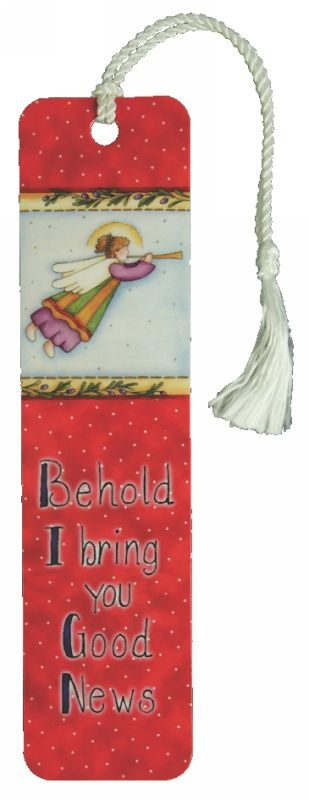 Bookmark with Tassel Christmas: Angel Behold I Bring You Good News