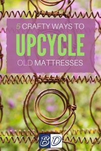 If you're looking for creative ways to repurpose the materials before disposing of a mattress, we've collected five creative uses for old mattresses and bed spring crafts for you to try.  Before you spring into action, here's how to tear apart your mattress to get down to all the reusable pieces and parts.