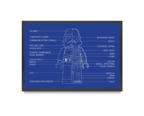 Space Trooper Inspired Anatomy XRay Art Print Typical by BARDARON, $39.00