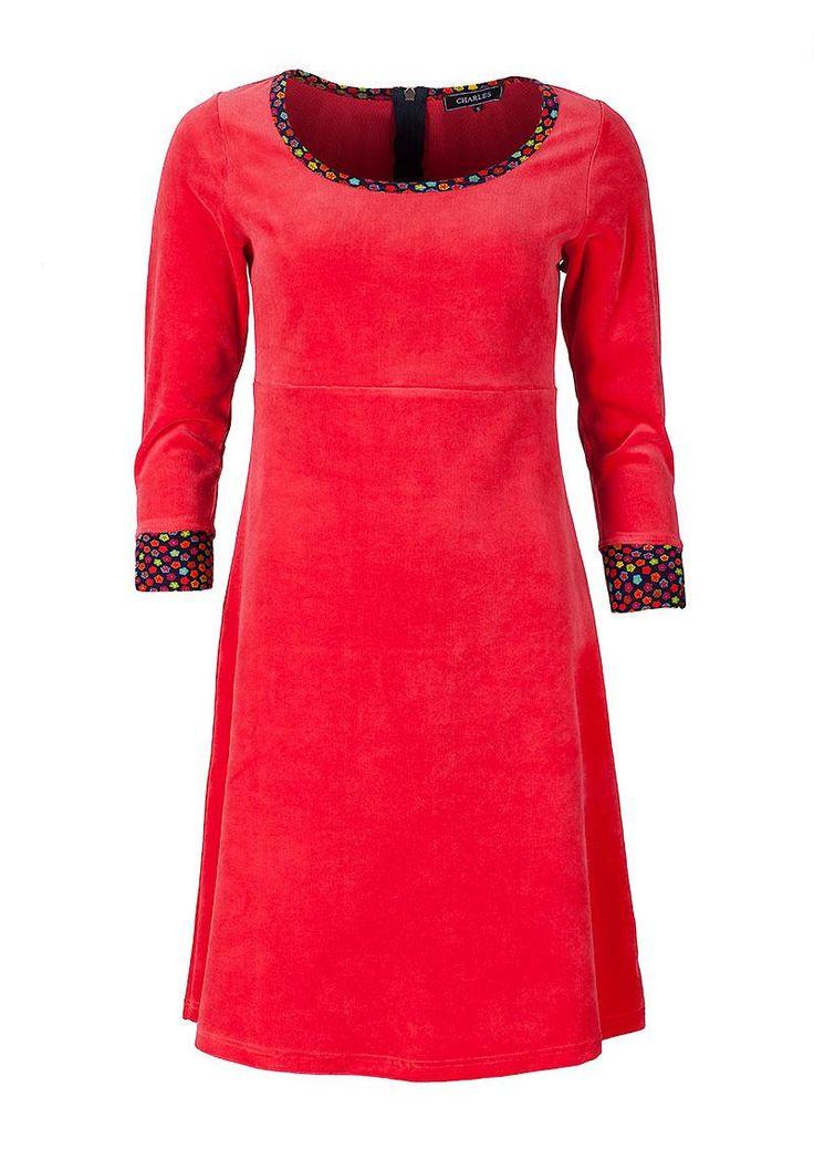 rød velour kjole