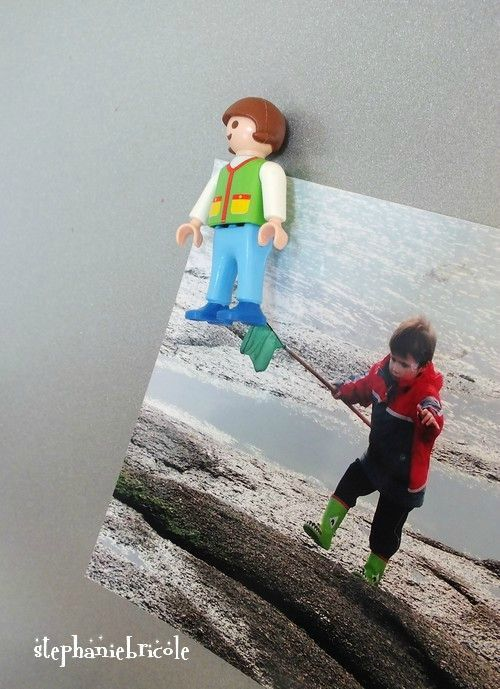 soo cool I love the idea of magnet playmobil