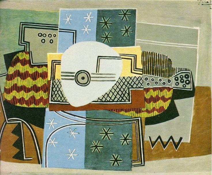 Pablo Picasso : Natureza-morta com o bandolim. Óleo s/ tela, 1924