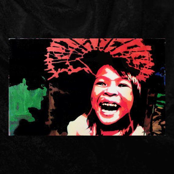 Girl and umbrella  by Fü  40 x  25 cm   La fille et par FuStencil, €100.00