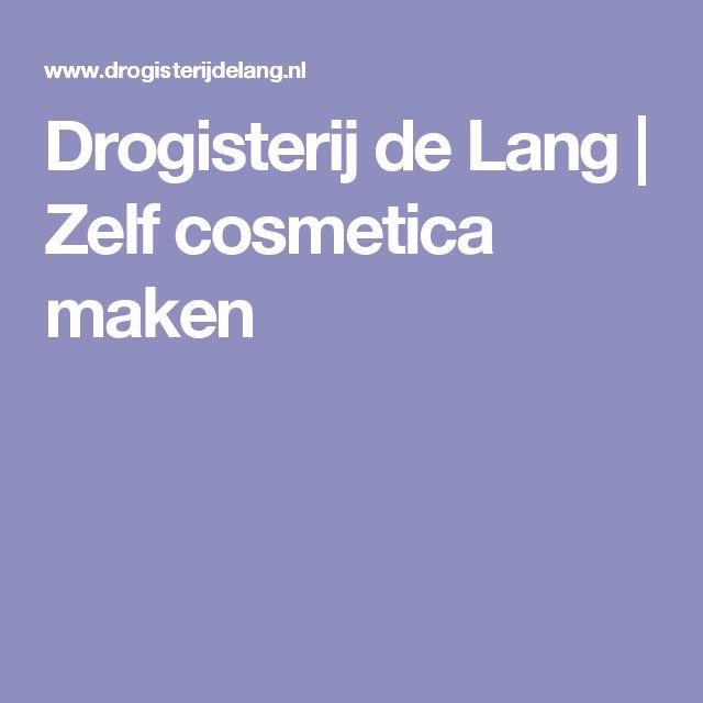 Drogisterij de Lang | Zelf cosmetica maken