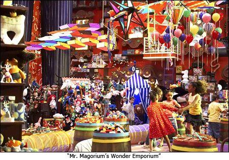 mr. magorium's wonder emporium; colorful toy store
