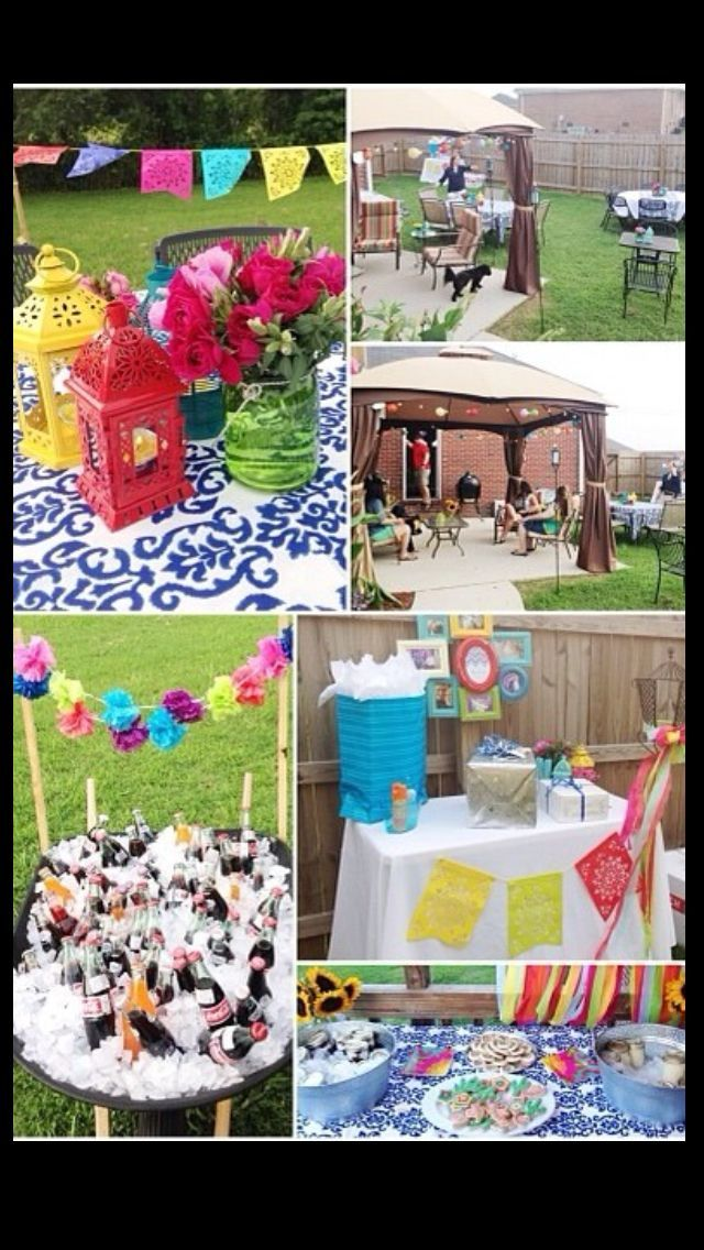 Fiesta wedding fiesta outdoor wedding shower ideas for Outdoor wedding bathroom ideas