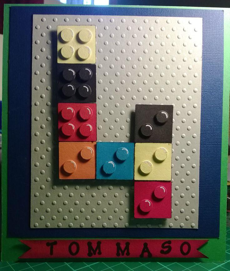"Il mio biglietto d'auguri ""Lego"" -    My  ""LEGO"" birthday card"