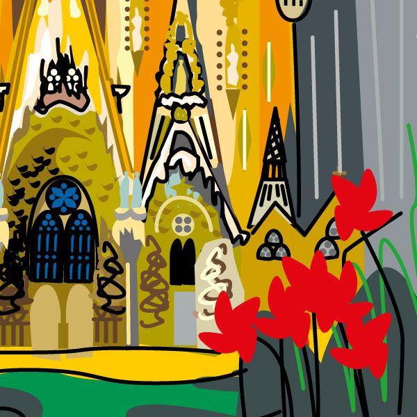 Sagrada Família de Gaudí, dibujo de Montse Noguera