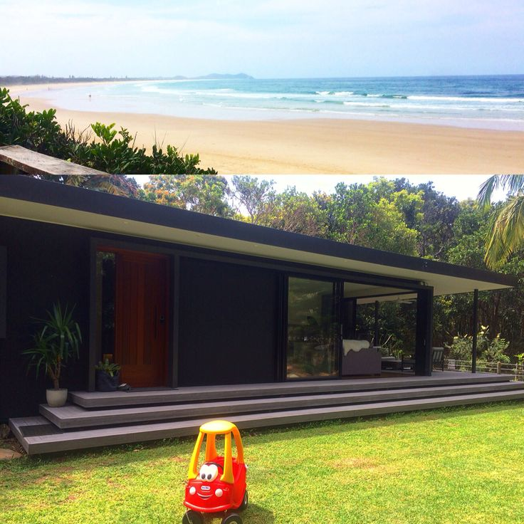 @byronbeachretreats at broken head have this amazing stay. Metres from the beach in the middle of the tropical forest that is broken head. A complete gated community so privacy creates this feeling of a private beach cabin.  The little red car or cozy coupe is hired and delivered from the Byron baby shop in Byron bay. Hire all your holiday and baby gear through us www.byronbabyshop.com.au  @byron.bay  @familyholidayhire @byronbabyshop  @visitnsw  www.byronbabyshop.com.au  #brokenhead…