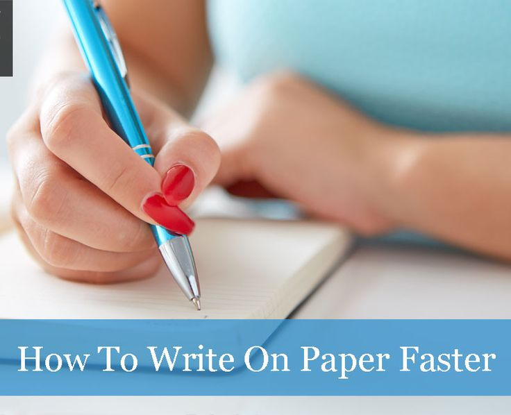 What really separates fast writers from slow writers? With these simple changes in technique, you can dramatically increase your writing speed and stamina. Table Of Contents Use a Fast Pen   Use a high quality ergonomic fountain or rollerball pen. Optimize Your... #notetaking #speed #studyhack