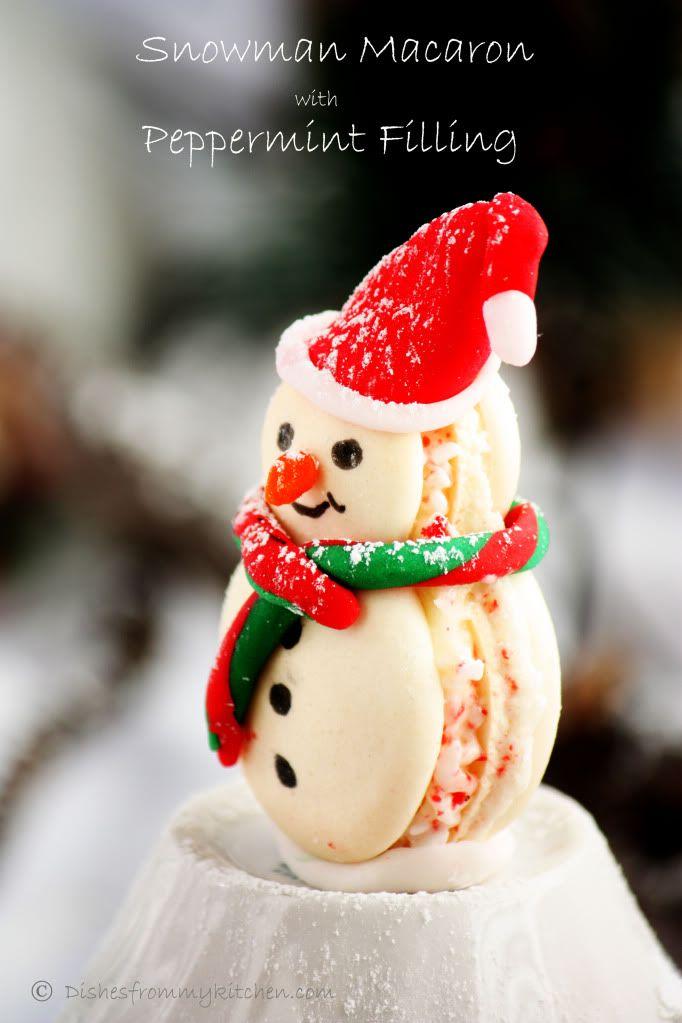 Dishesfrommykitchen: SNOWMAN MACARONS !