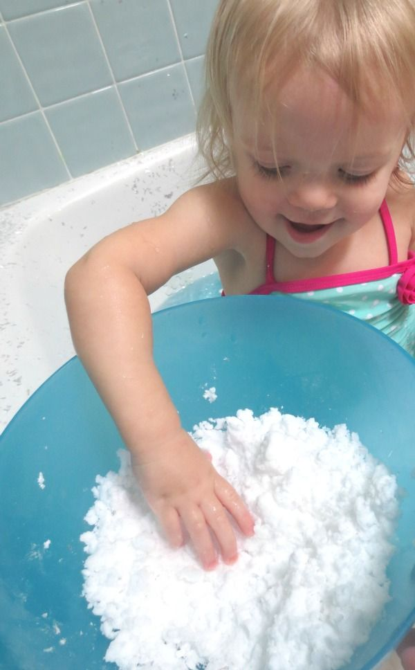 Make your own ICY cold frozen snow using only ONE common household ingredient!  So fun for kids, especially in the hot weather!