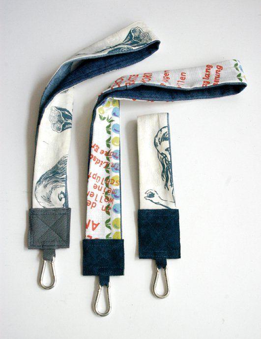 Upcycling: Schlüsselband aus Jeans, Leder, Tischwäsche