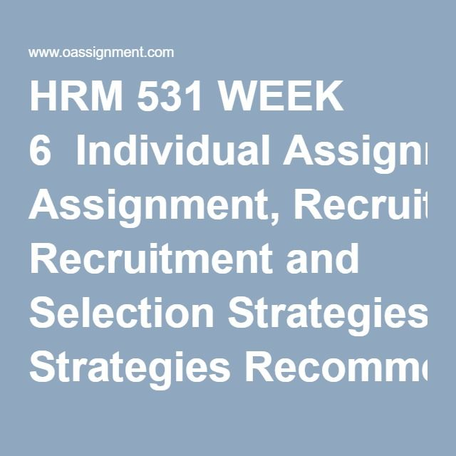 HRM 300 Week 3 Interview Simulation Review (2 Papers)