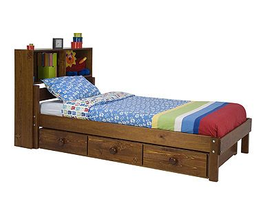 Each bed is a starting point for many other options: add trundles or drawers for extra sleeping or storage. A Bunk Bed with storage is a great space saver.