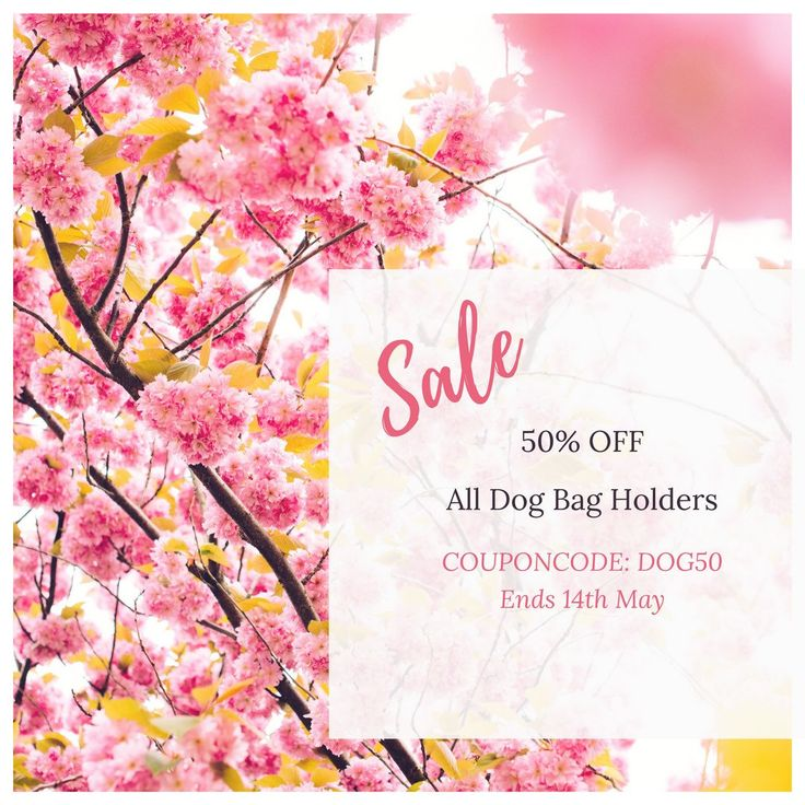 Enter COUPONCODE: DOG50 to receive 50% off all dog bag holders at checkout.